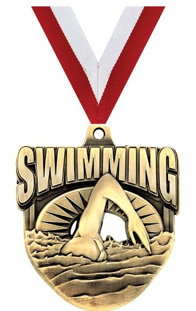 """2"""" ECLIPTIC SWIMMING MDL GOLD"""