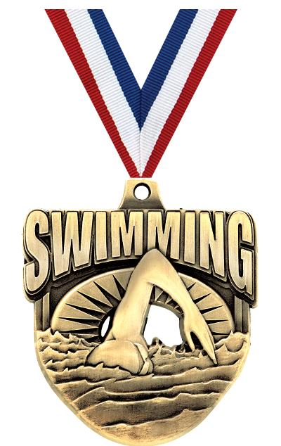 "2"" Ecliptic Swim Medal"
