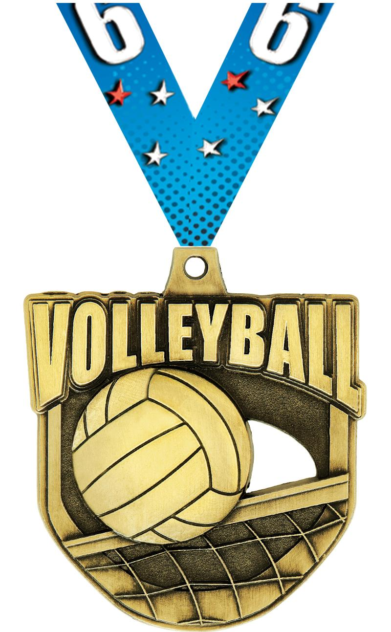 """2"""" Ecliptic Volleyball Medal"""
