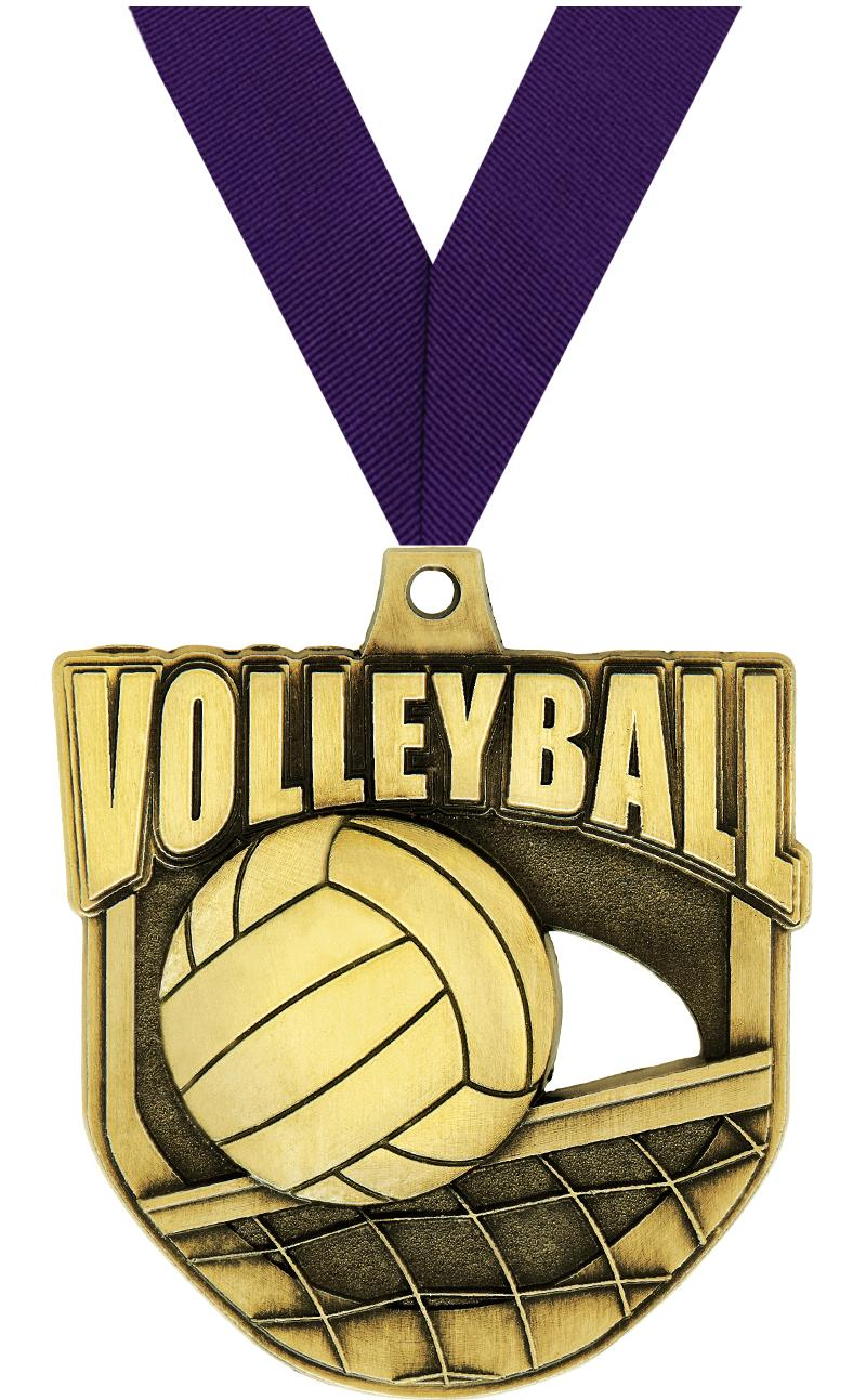 "2"" Ecliptic Volleyball Medal"
