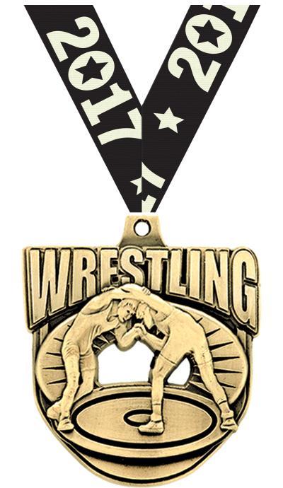 """2"""" Ecliptic Wrestling Medal"""