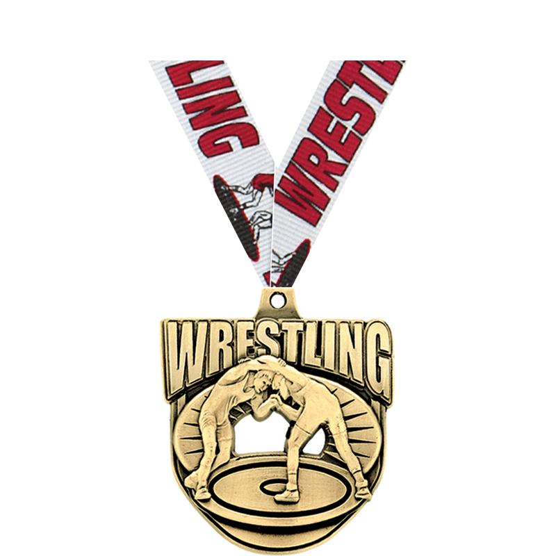 "2"" ECLIPTIC WRESTLING MDL GOLD"