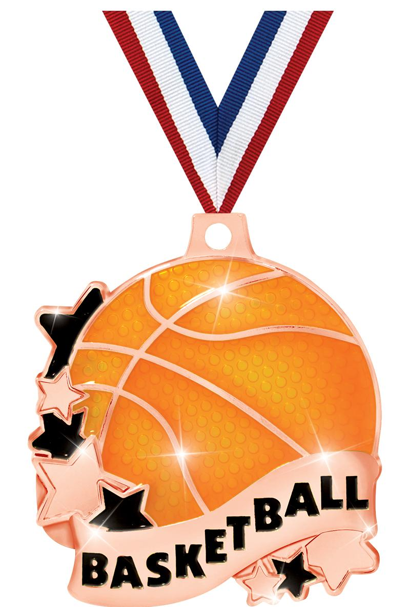 "2"" Basketball Banner Medals"