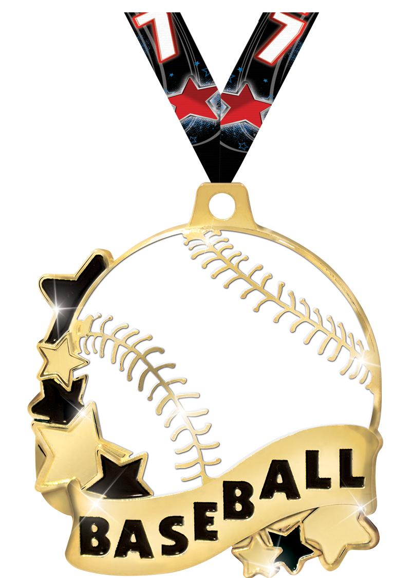 "2"" Baseball Banner Medals"