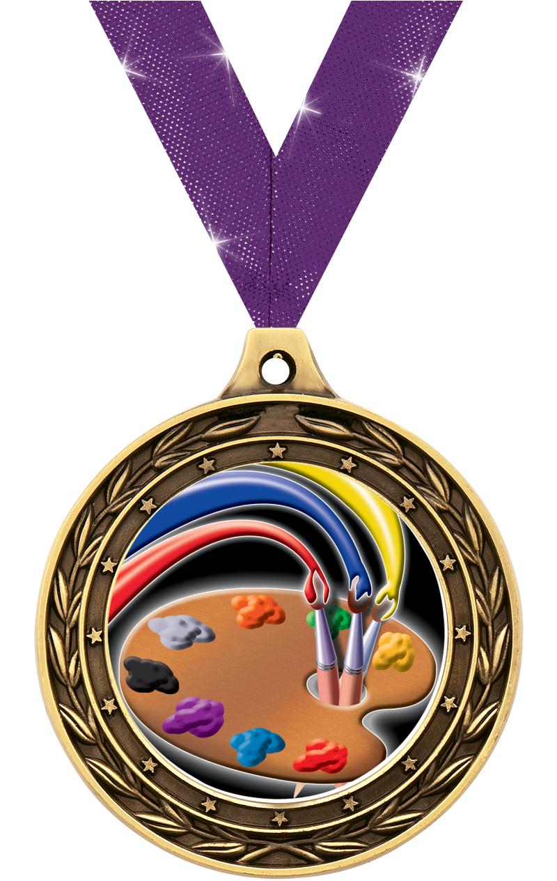 """3"""" DUO INSERT MEDAL GOLD"""