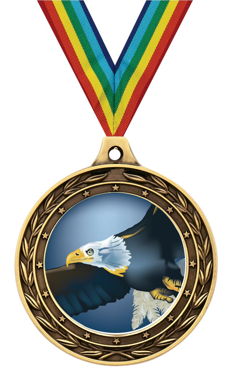 "3"" DUO INSERT MEDAL GOLD"
