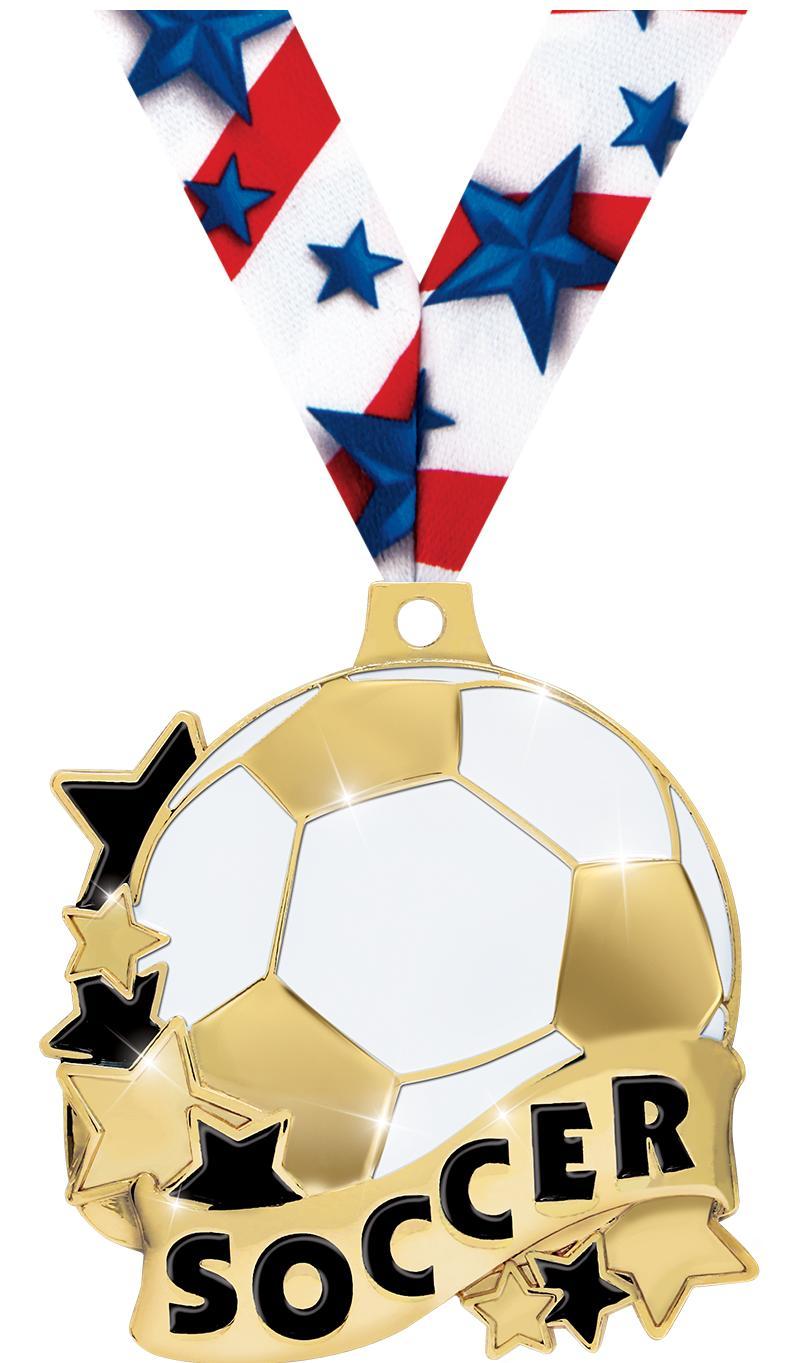 """2"""" Soccer Banner Medals"""