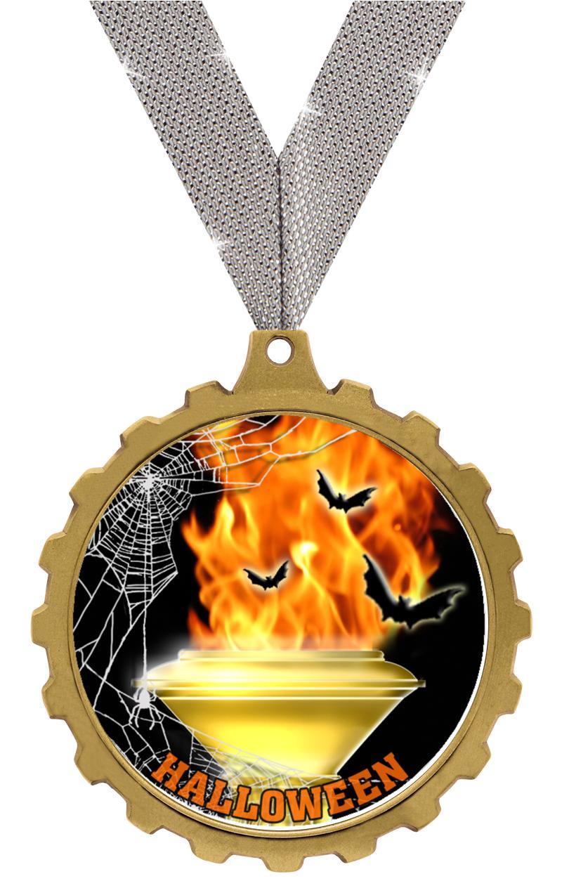 """2.5"""" GEAR INSERT MEDAL GOLD"""