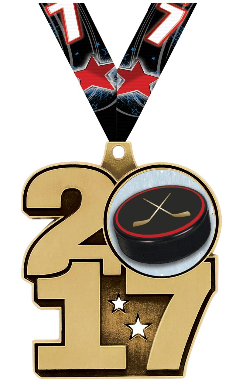 """2.25"""" 2017 INSERT MEDAL GOLD"""