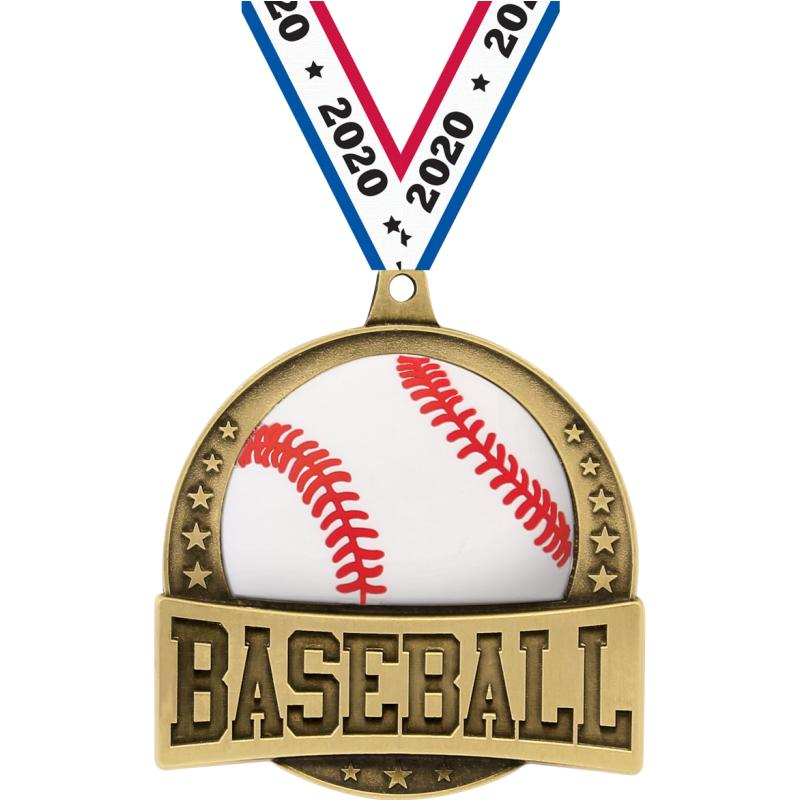 "2.25"" FX BASEBALL MEDAL GOLD"