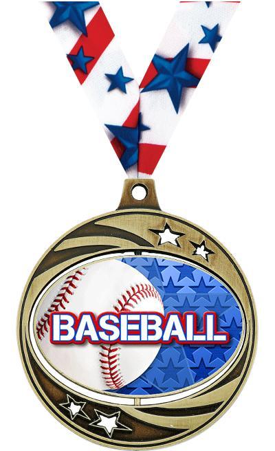"""2"""" Baseball Spinzer Medal"""