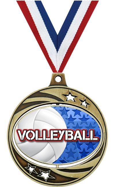 "2"" SPINZER VOLLEYBALL GOLD"