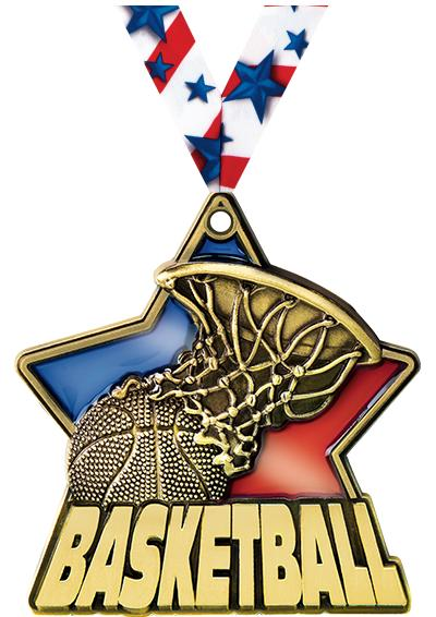 """2 1/4"""" Basketball Stained Glass Medals"""
