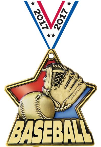 "2 1/4"" Baseball Stained Glass Medals"