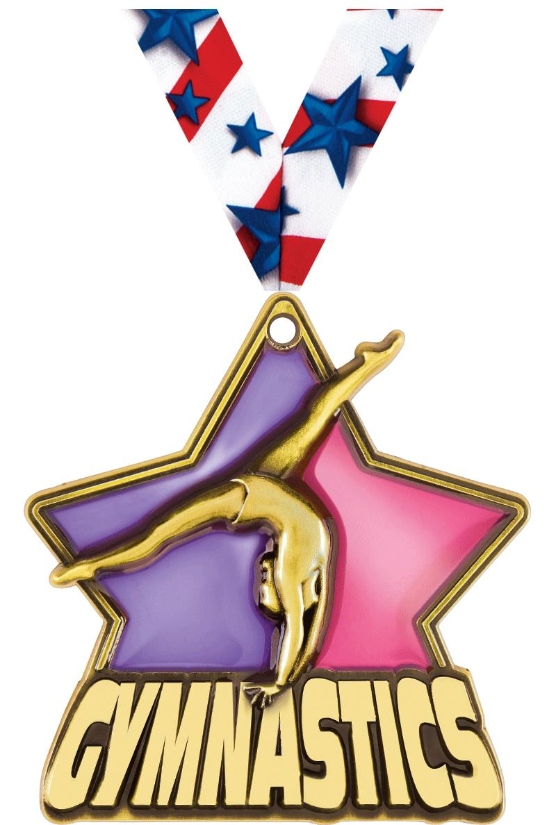"2 1/4"" Female Gymnastics Medals"