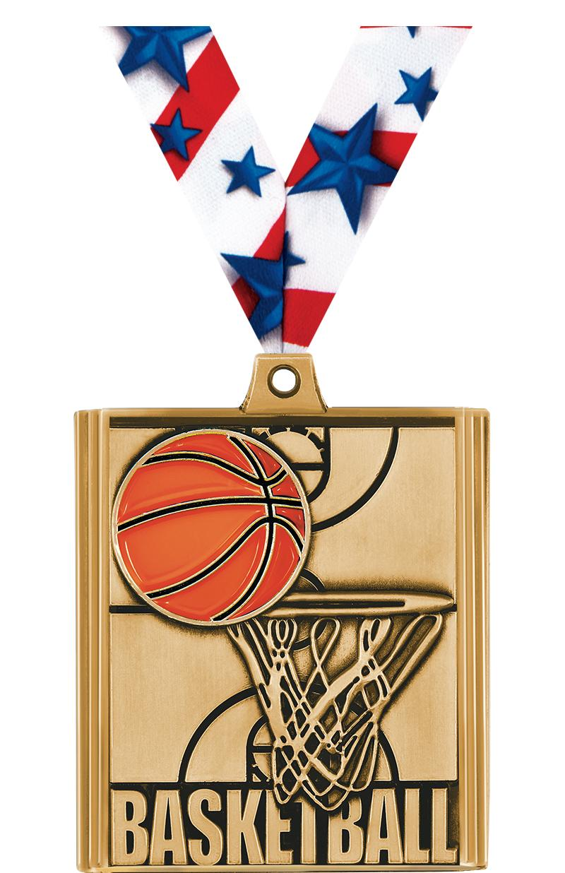 "2 1/4"" Basketball Stepz Medals"