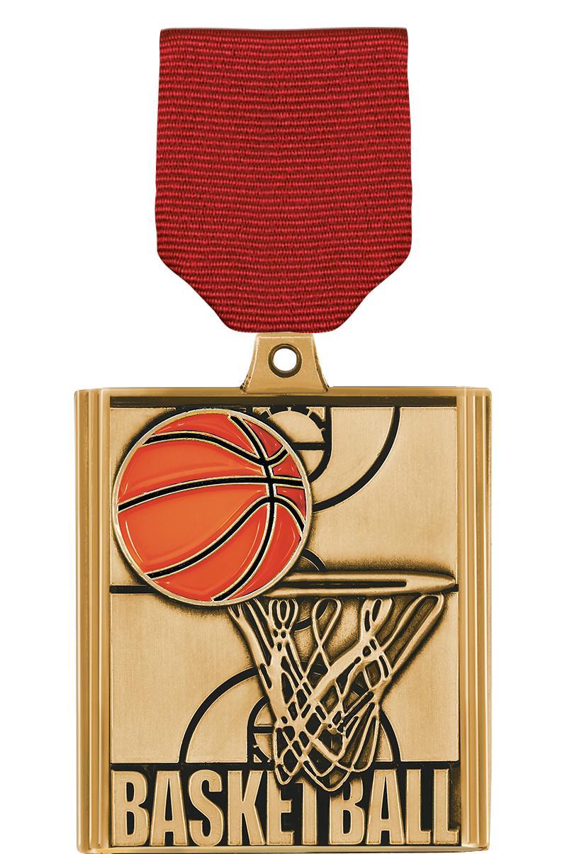 "2 1/4"" Basketball Stepz Medals"