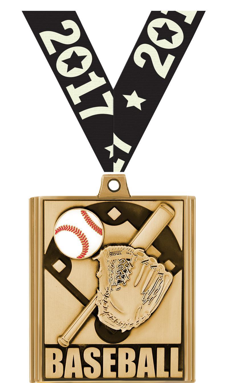 """2 1/4"""" Baseball Stepz Medals"""