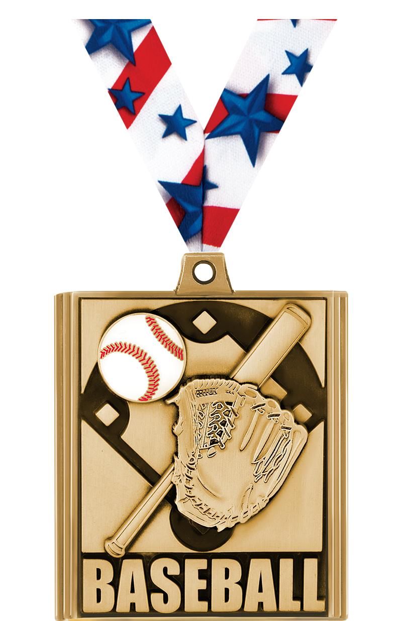"2 1/4"" Baseball Stepz Medals"