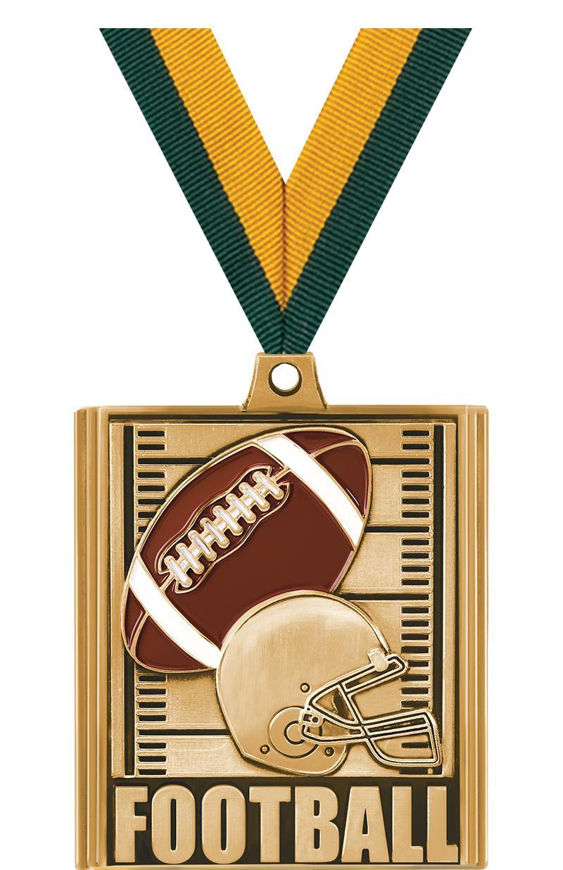 """2 1/4"""" Football Stepz Medals"""
