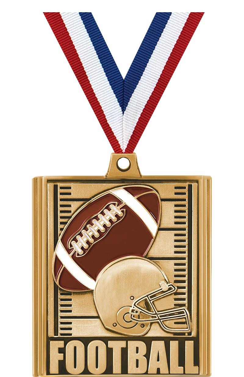 "2 1/4"" Football Stepz Medals"