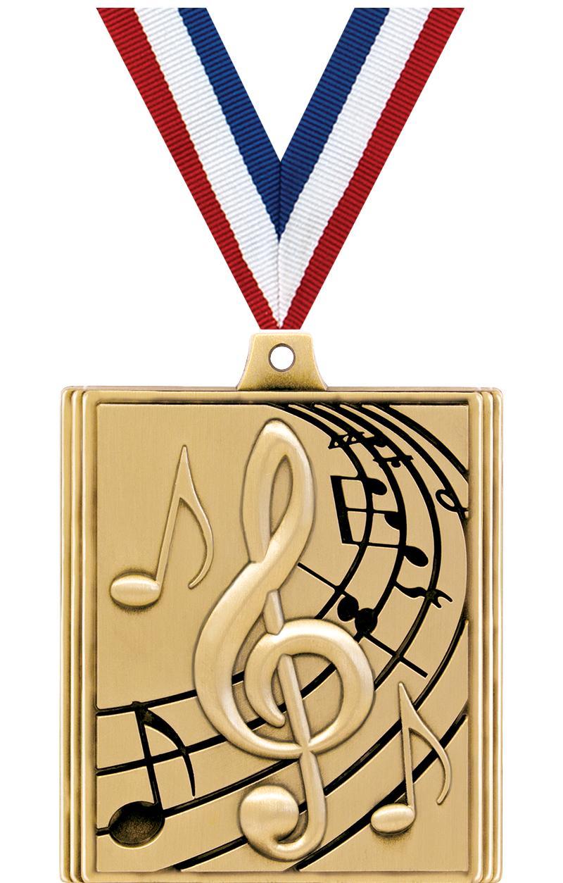"2 1/4"" STEPZ MUSIC MDL GOLD"