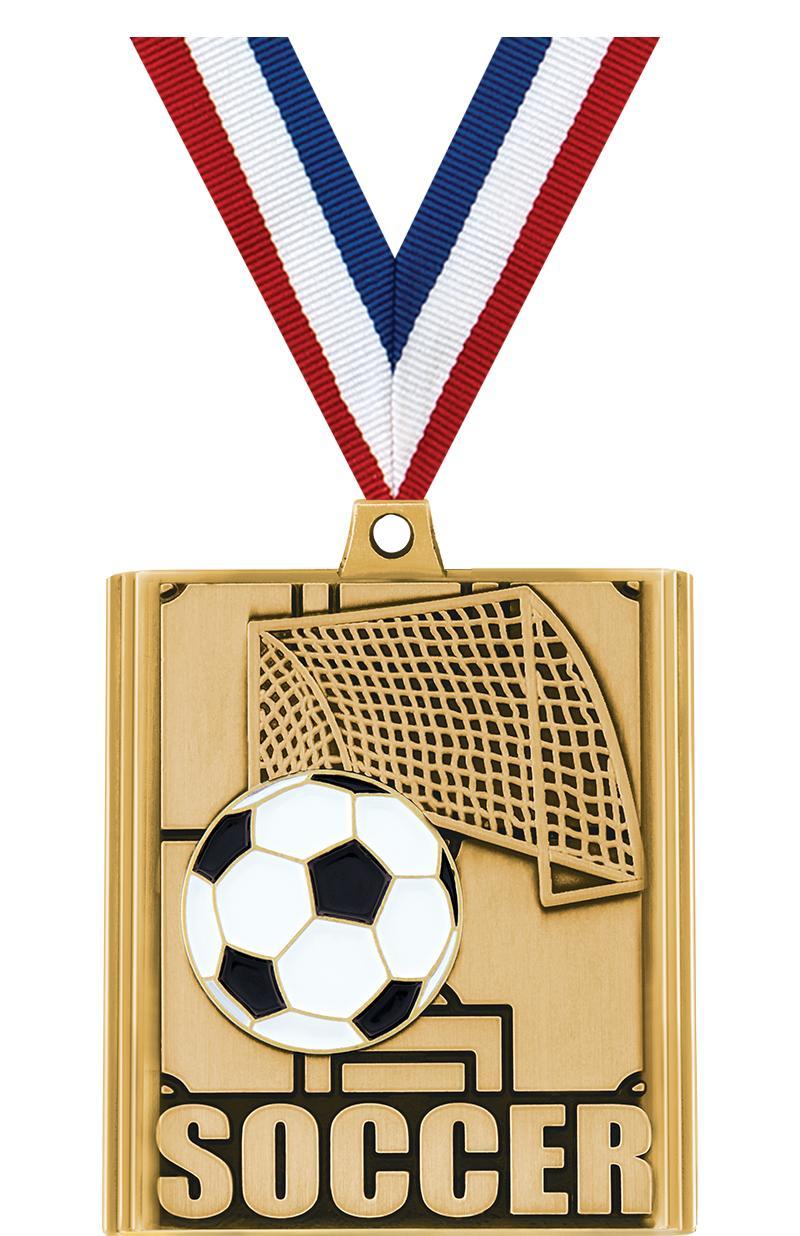 "2 1/4"" Soccer Stepz Medals"