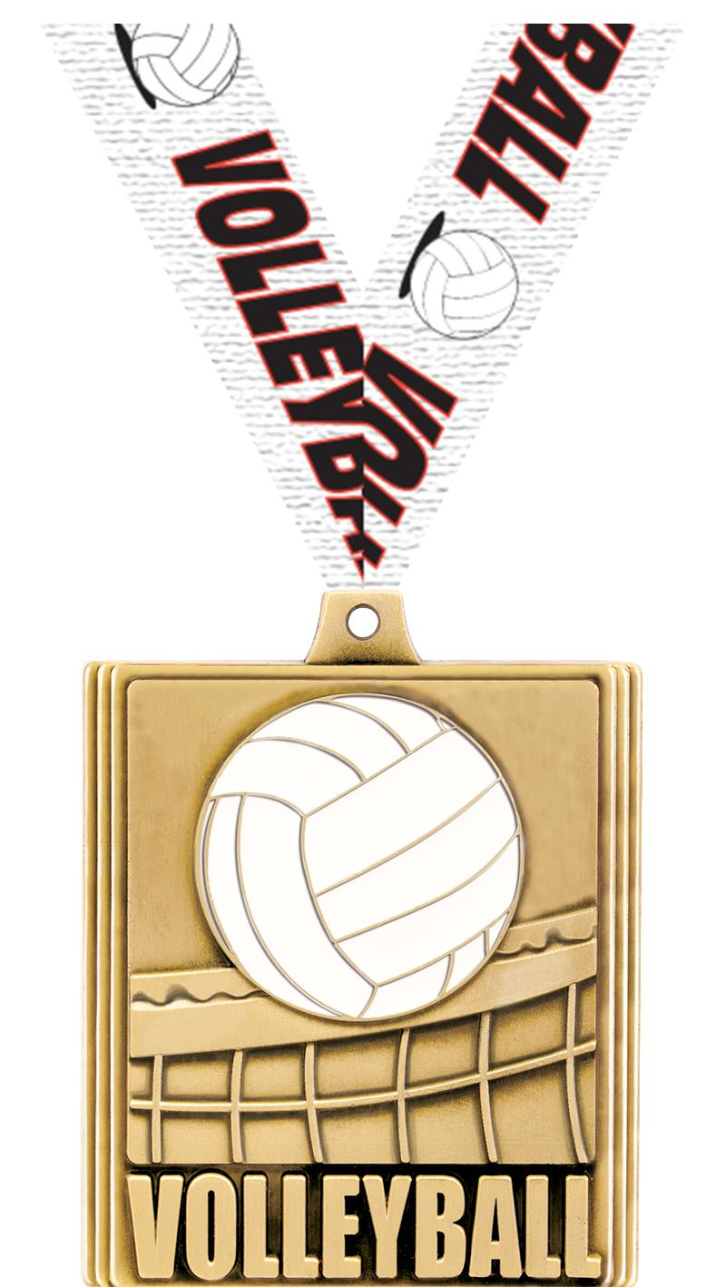"2 1/4"" STEPZ VOLLEYBAL MDL GLD"