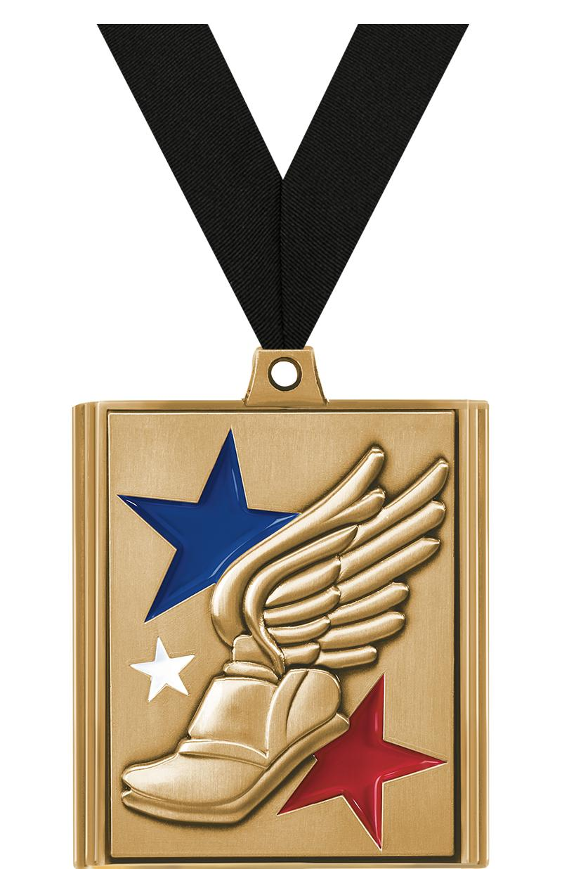 """2 1/4"""" Winged Foot Stepz Medals"""