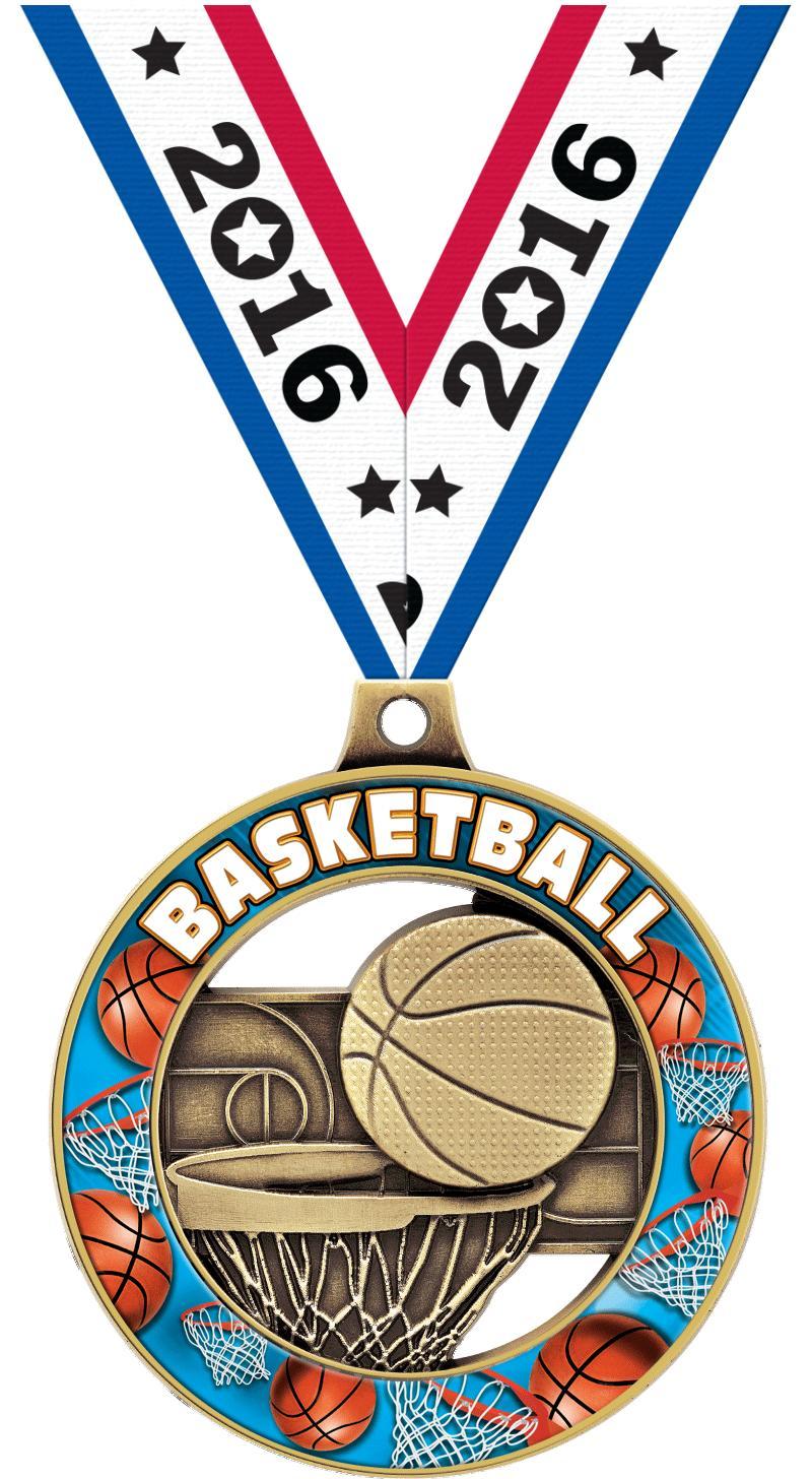 "2"" Basketball Sport Rimz 3.0 Medal"