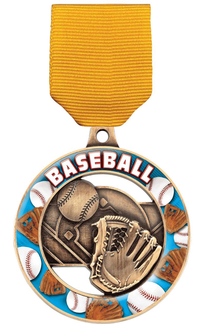 """2"""" Baseball Sport Rimz 3.0 Medal"""