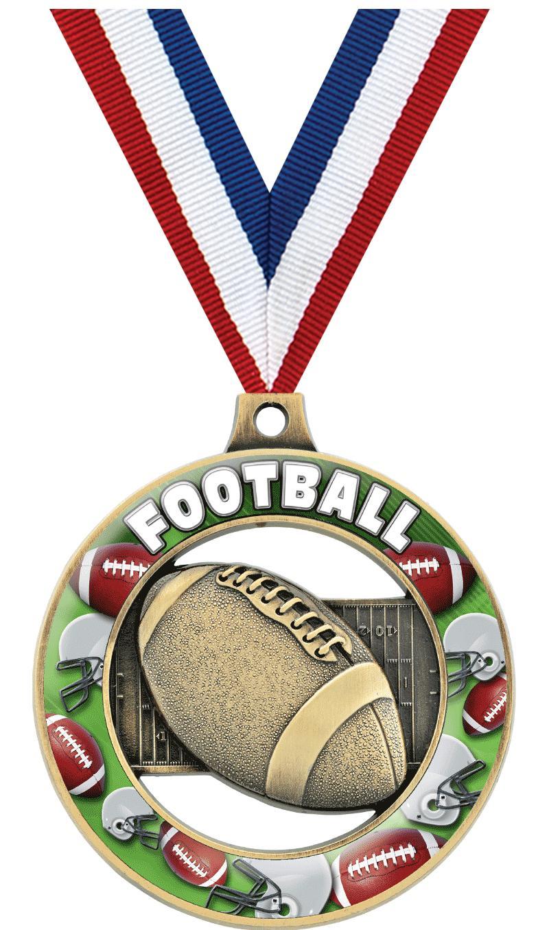 """2"""" Football Sport Rimz 3.0 Medal"""