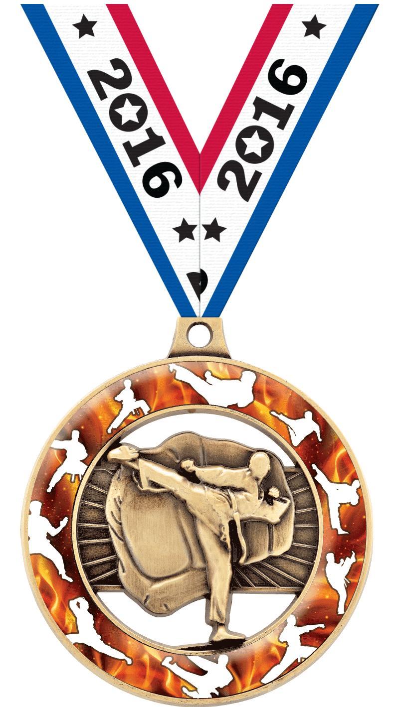 """2"""" Martial Arts Sport Rimz 3.0 Medal"""