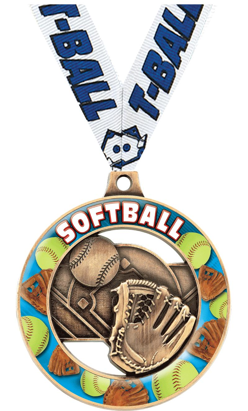 "2"" Softball Sport Rimz 3.0 Medal"
