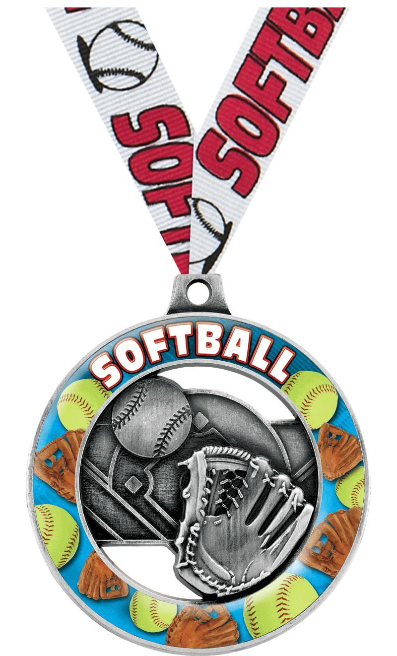 "2"" Softball Sport Rimz 3.0 Medal"