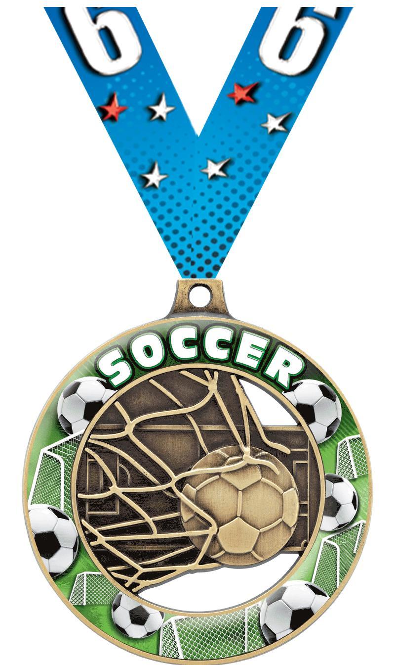 """2"""" Soccer Sport Rimz 3.0 Medal"""