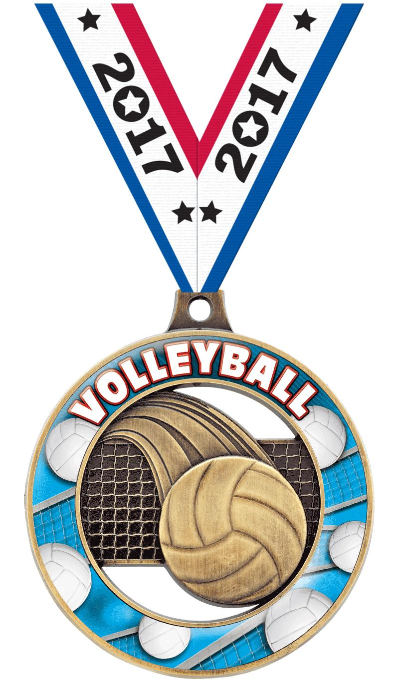 "2"" Volleyball Sport Rimz 3.0 Medal"