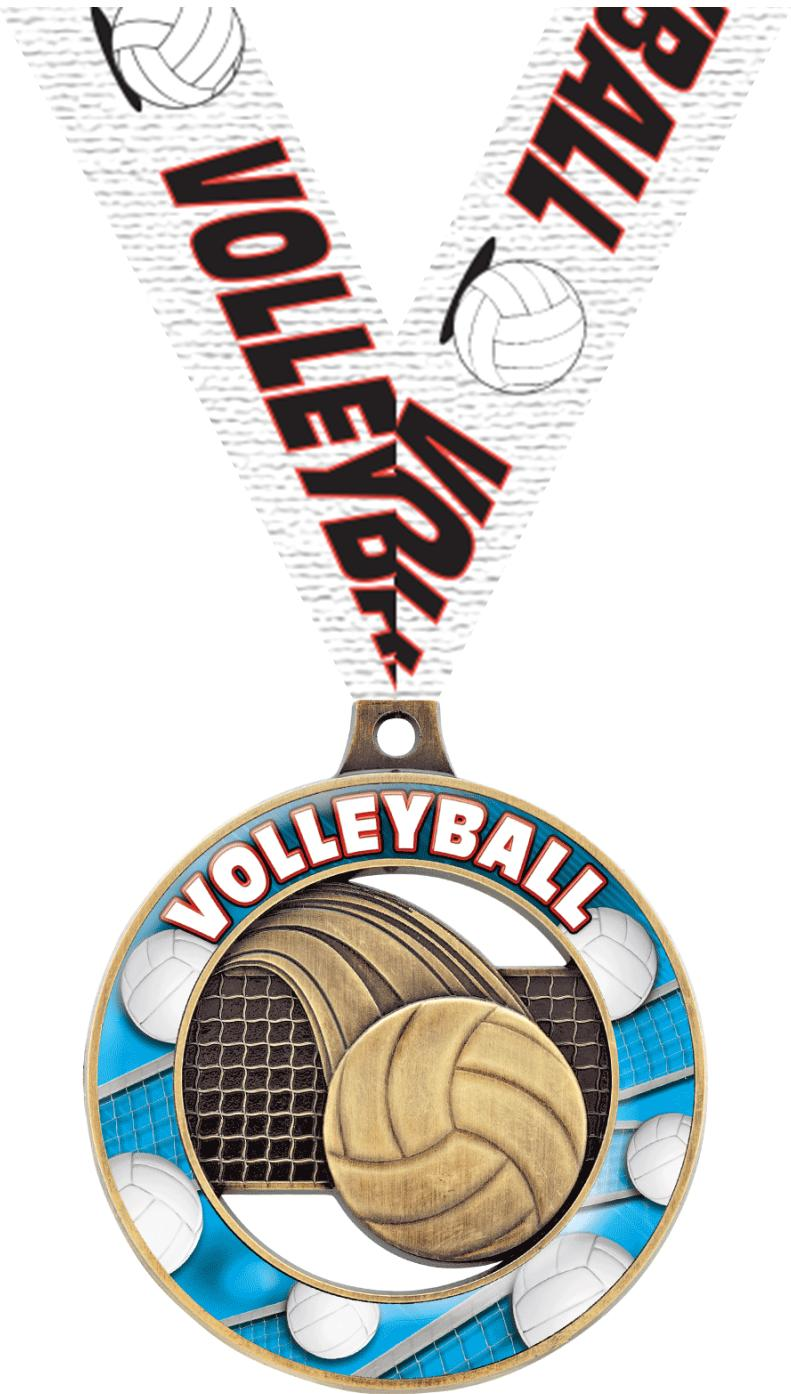 "2"" Volleyball Sport Rimz 3.0 Medal"
