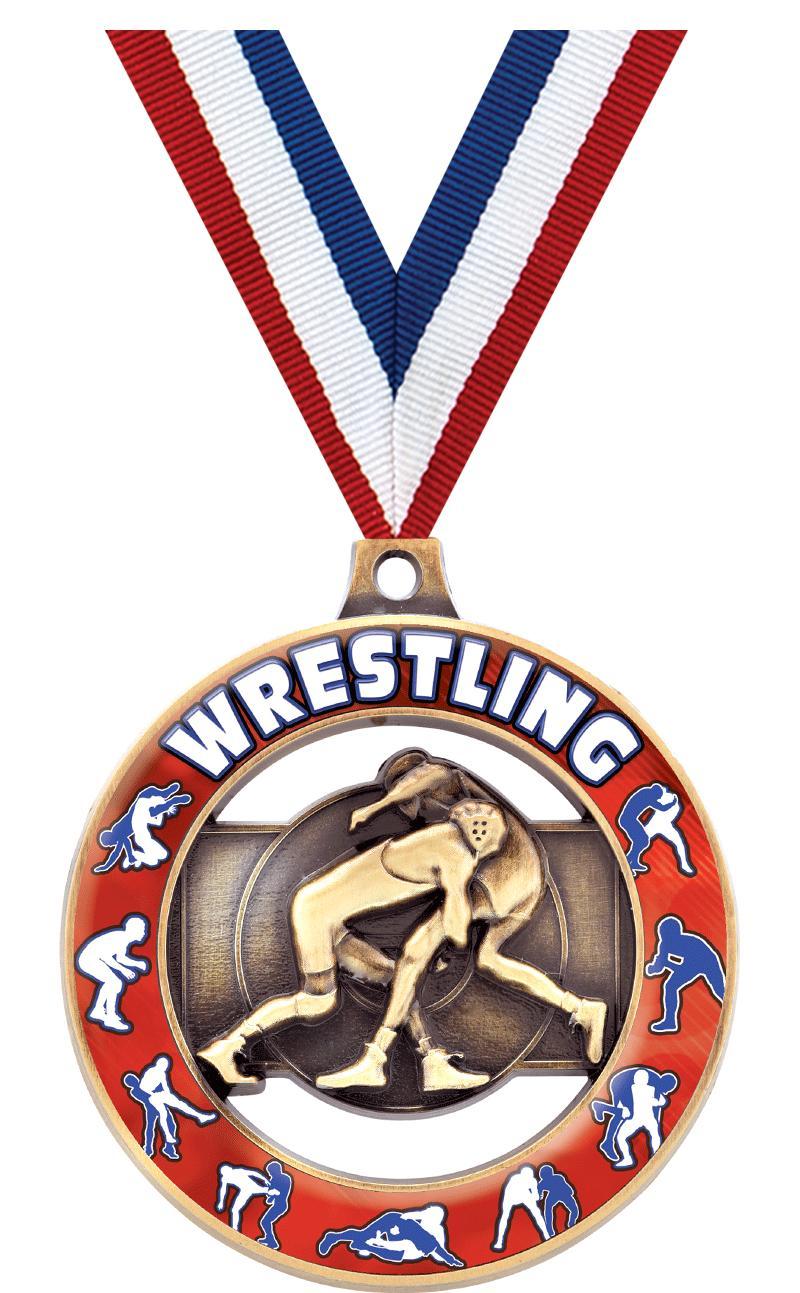 """2"""" Wrestling Sport Rimz 3.0 Medal"""