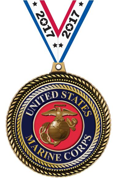 "2.5""HONORABLE INSERT MEDAL GLD"