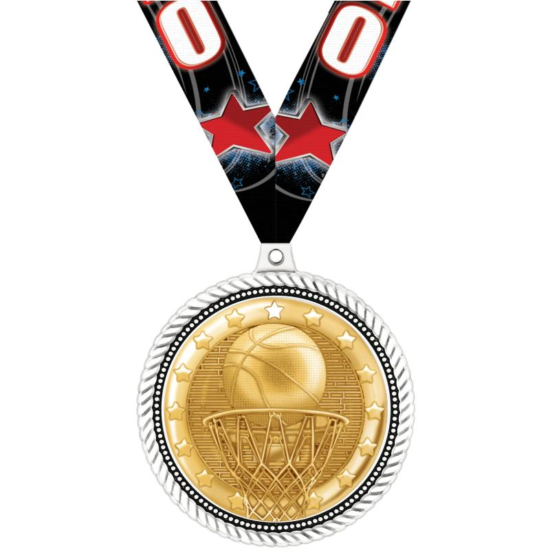 """2.5""""HONORABLE INSERT MEDAL WH"""