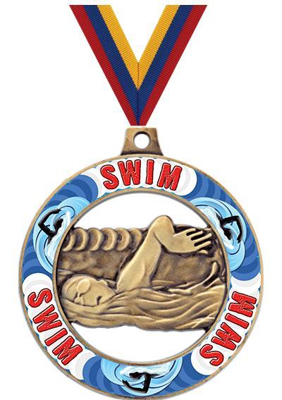 "2"" Swimming Sport Rimz 2.0 Medal"
