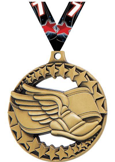 "2"" Winged Foot Sport Rimz 2.0 Medal"