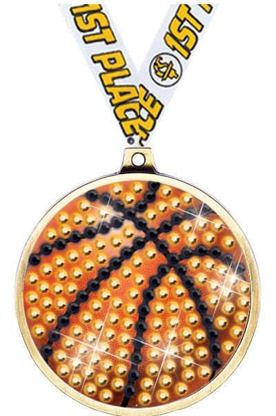 """2 1/4"""" Basketball Blingster Medal"""