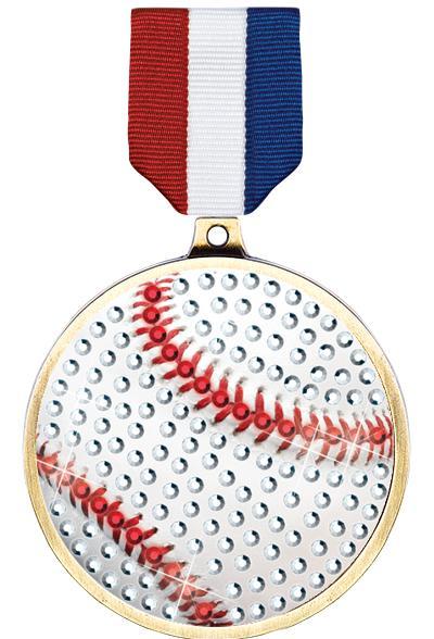 """2 1/4"""" Baseball Blingster Medal"""