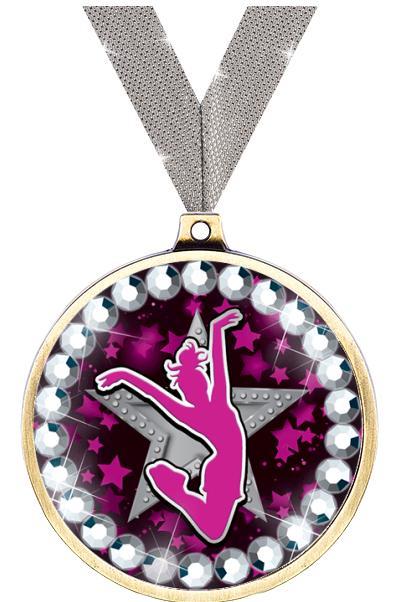 """2 1/4"""" Cheer Blingster Medal"""