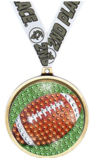 """2 1/4"""" Football Blingster Medal"""