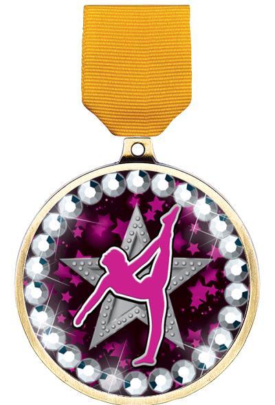 """2 1/4"""" Gymnastics Blingster Medal"""