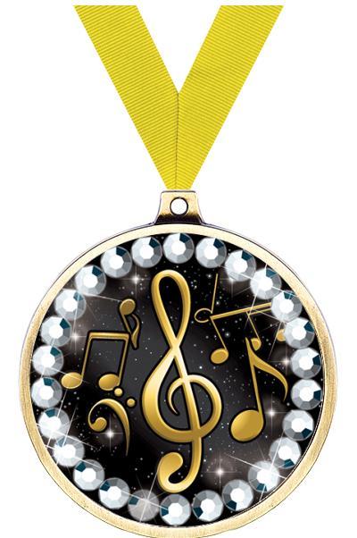 """2 1/4"""" Music Blingster Medal"""