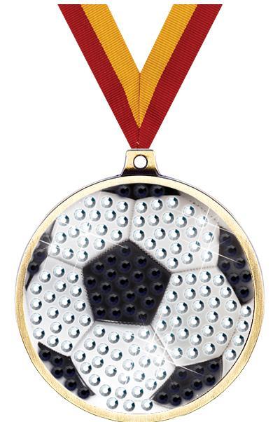 """2 1/4"""" Soccer Blingster Medal"""